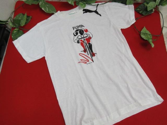 オ50 PUMA プーマ メンズ 半袖Tシャツ Lサイズ・ホワイト