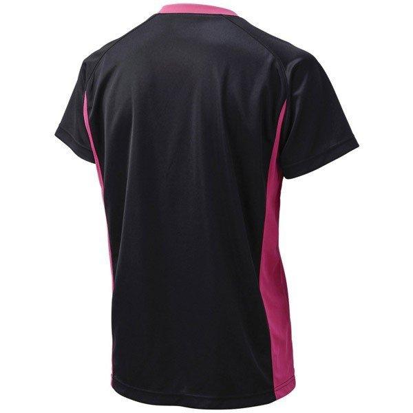定価3564円 送料無料 メンズ Oサイズ アシックス バレーボール シャツ 半袖 XW1325 ブラック 黒 ピンク ユニフォーム asics ウェア LL XL_画像4