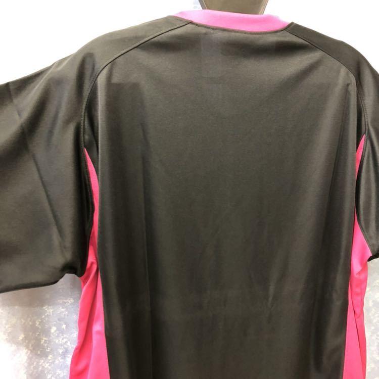 定価3564円 送料無料 メンズ Oサイズ アシックス バレーボール シャツ 半袖 XW1325 ブラック 黒 ピンク ユニフォーム asics ウェア LL XL_画像10