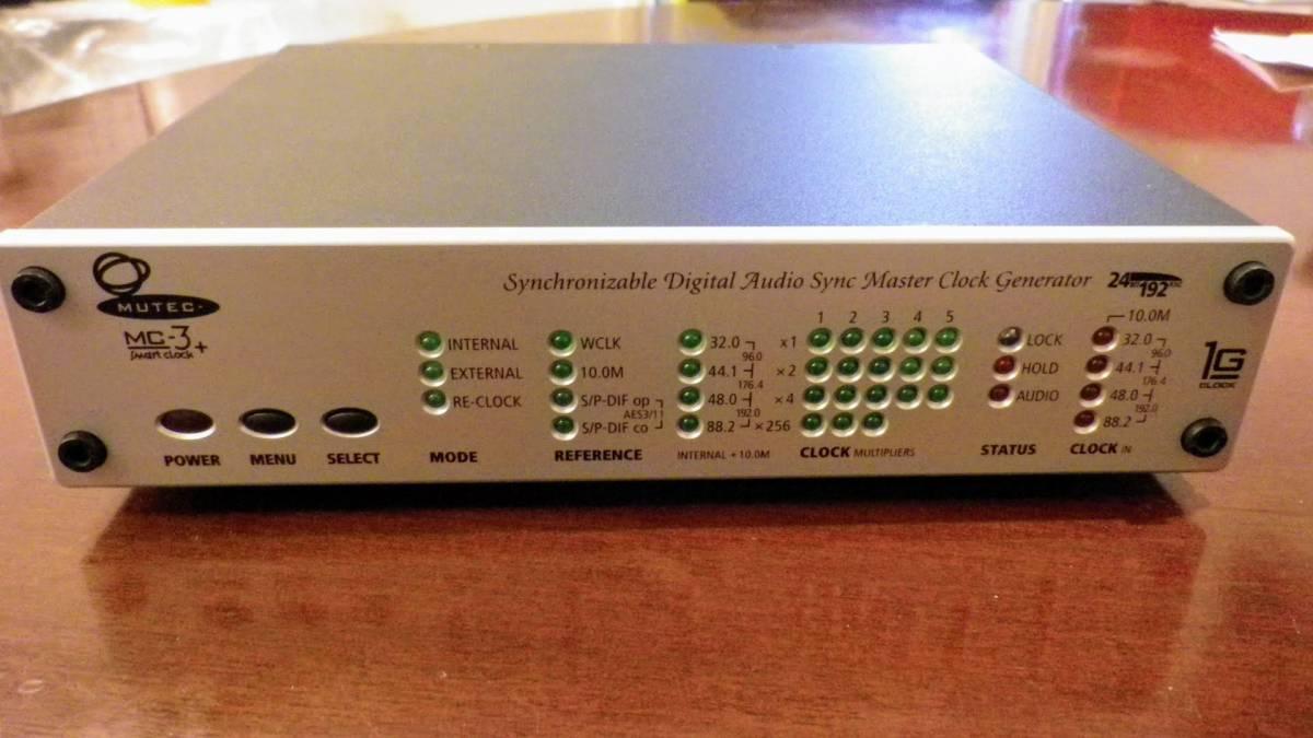 MUTEC MC-3+ Smart clock マスタークロック?ジェネレーター/ディス?#21435;轔鷹濠`ター ワード?クロック?ジェネレーター 電源電圧日本OK