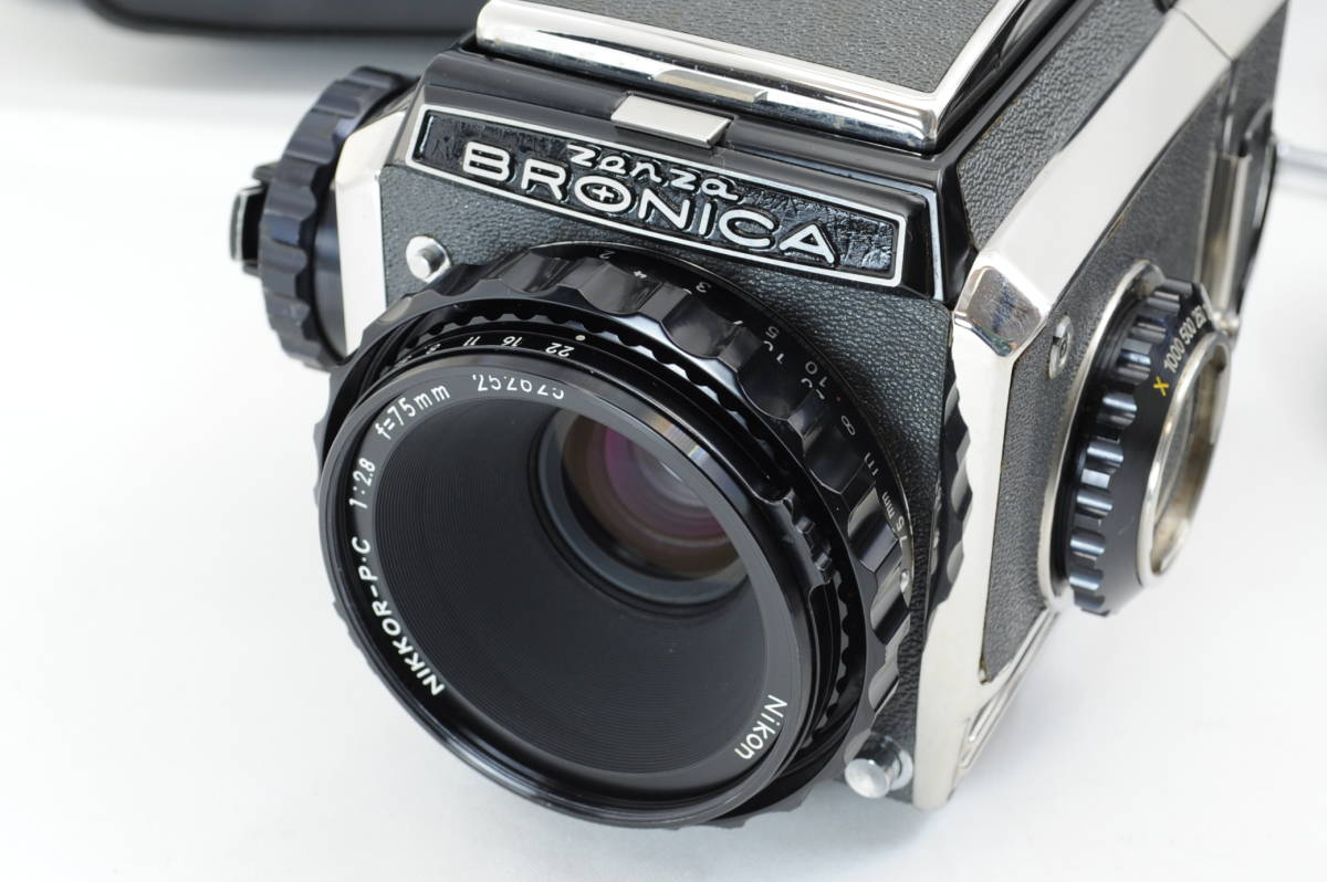 【ecoま】ゼンザブロニカ ZENZA BRONICA S2 NIKKOR-P・C 75mm F2.8セット 動作品 中判カメラ_画像3