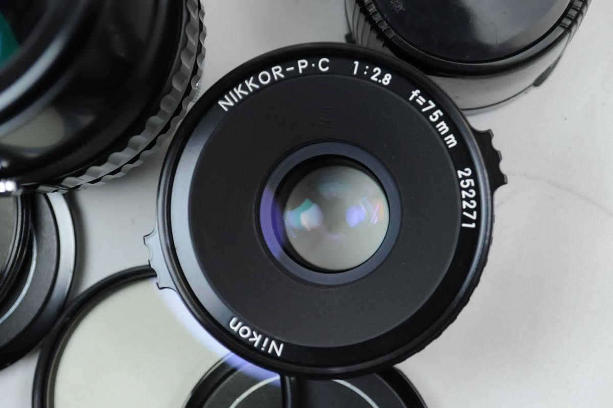 【ecoま】ブロニカ BRONICA EC 40mmF4/75mmF2.8/200mmF4/中間リング・ハードケースセット 中判カメラ_画像6