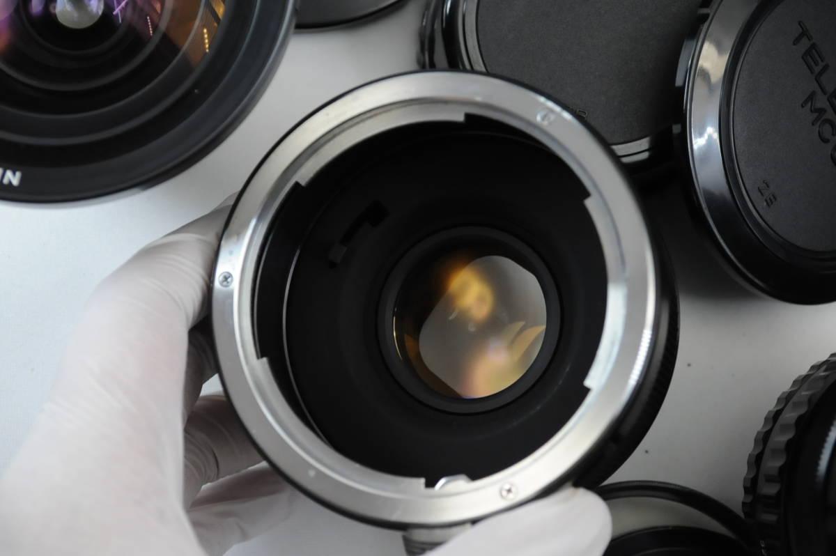【ecoま】ブロニカ BRONICA EC 40mmF4/75mmF2.8/200mmF4/中間リング・ハードケースセット 中判カメラ_画像4
