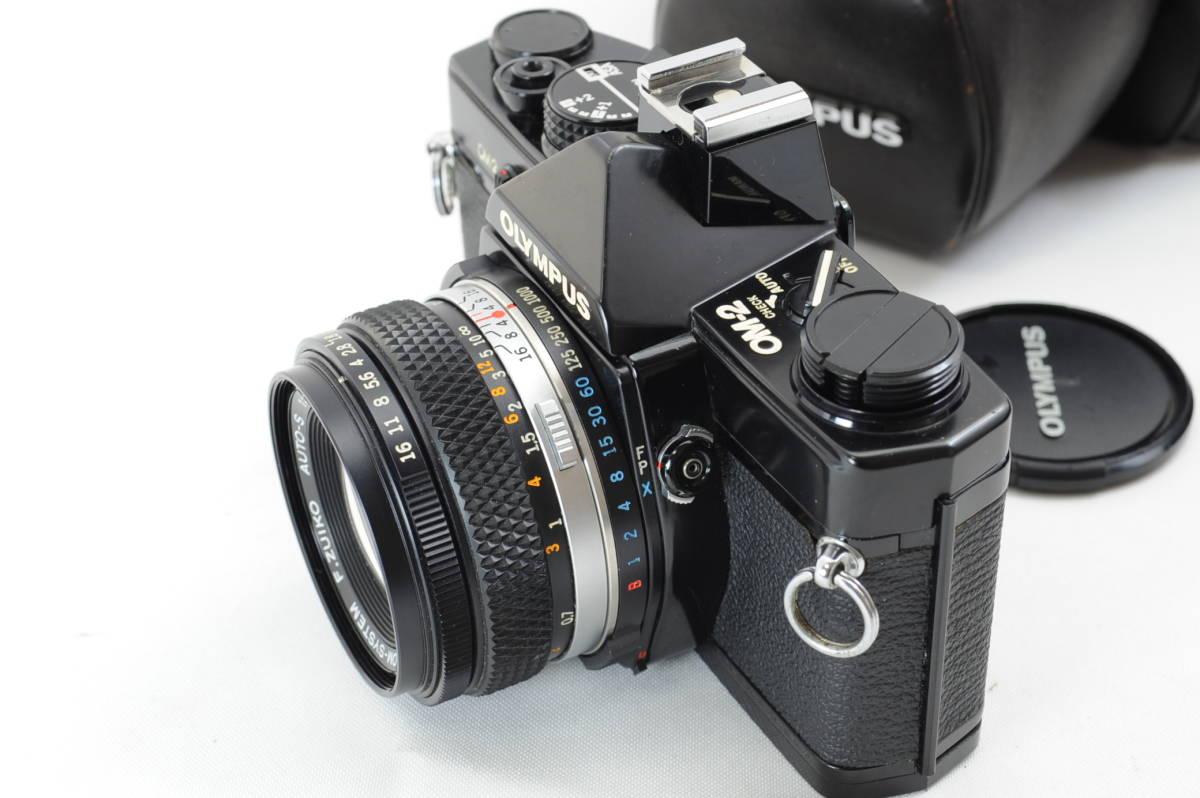 【ecoま】オリンパス OLYMPUS OM-2 50mm F1.8レンズ付 ブラック フィルムカメラ_画像2