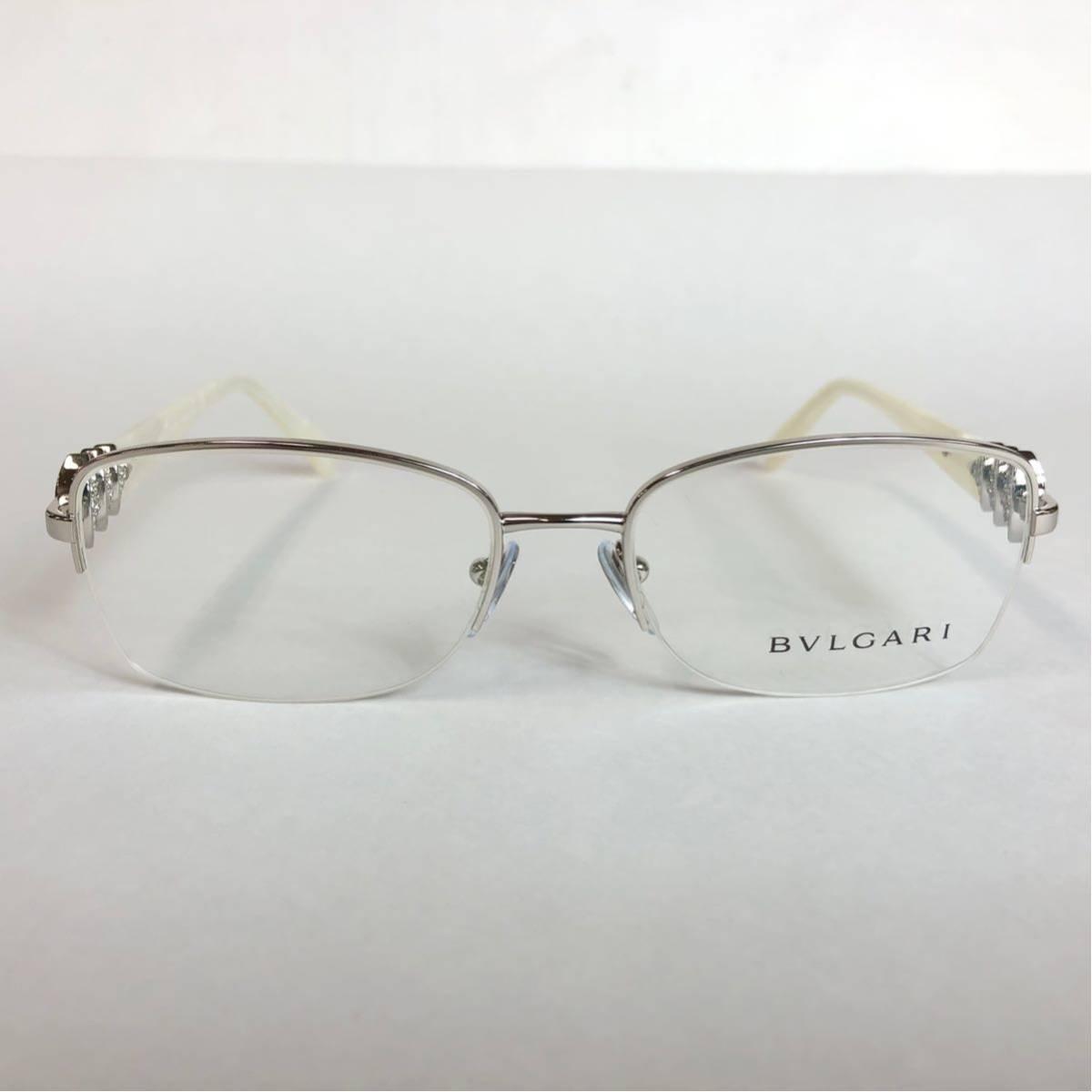 未使用 新品 BVLGARI 正規品 1円スタート ハーフリム 眼鏡フレーム 2162-B ホワイトマーブル めがね ブルガリ イタリア製 N38_画像2