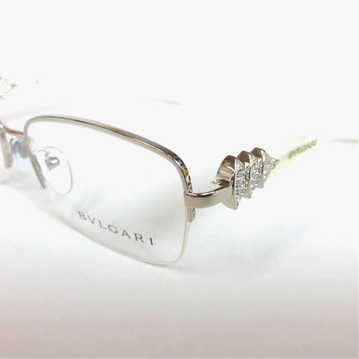 未使用 新品 BVLGARI 正規品 1円スタート ハーフリム 眼鏡フレーム 2162-B ホワイトマーブル めがね ブルガリ イタリア製 N38_画像3
