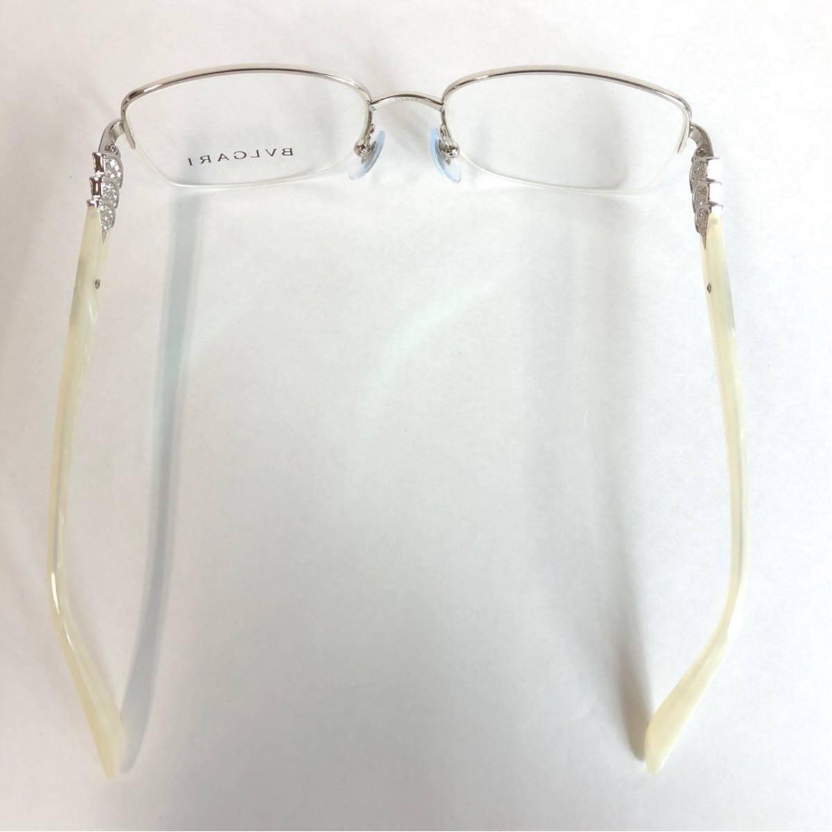 未使用 新品 BVLGARI 正規品 1円スタート ハーフリム 眼鏡フレーム 2162-B ホワイトマーブル めがね ブルガリ イタリア製 N38_画像5