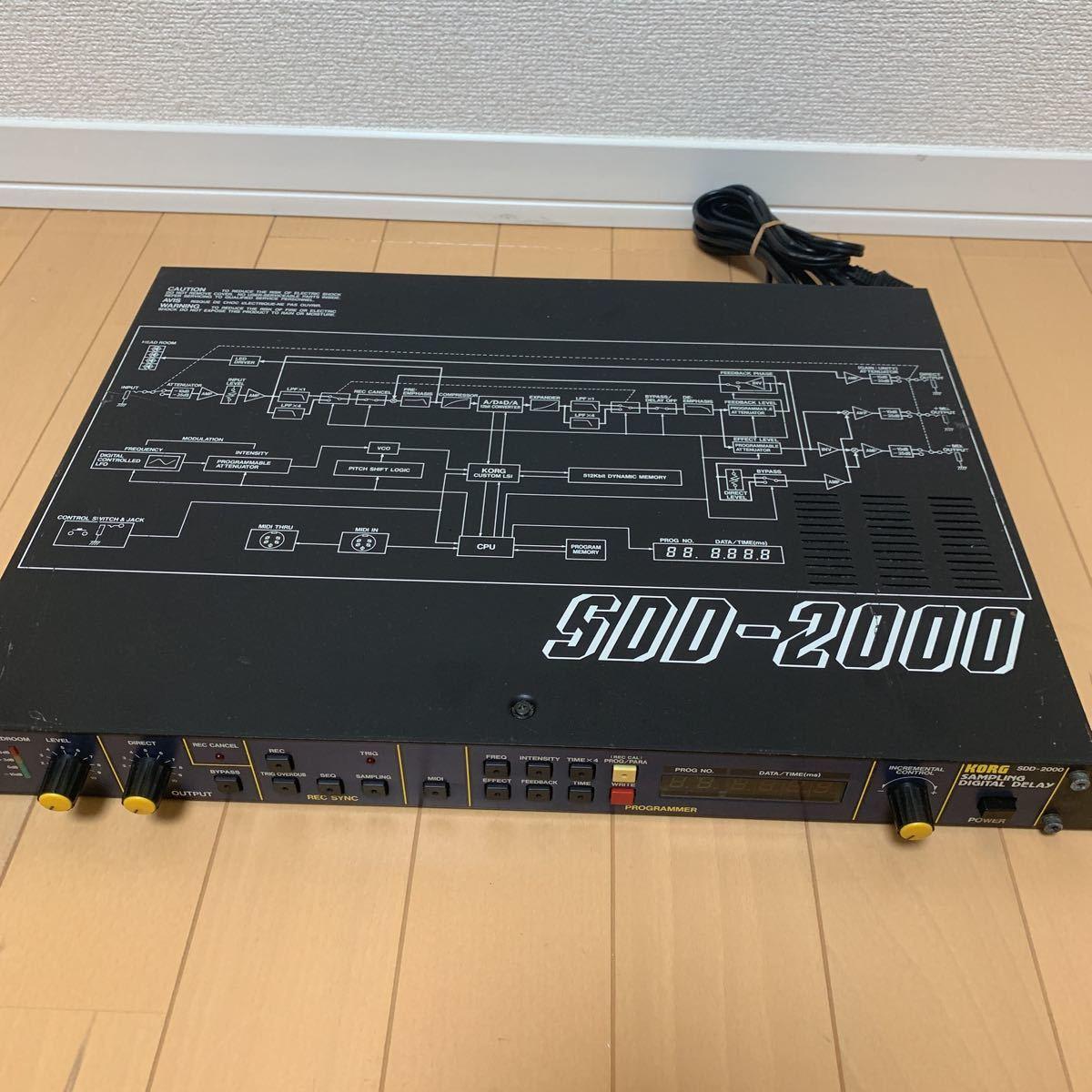 KORG コルグ SDD-2000 デジタルディレイ_画像2
