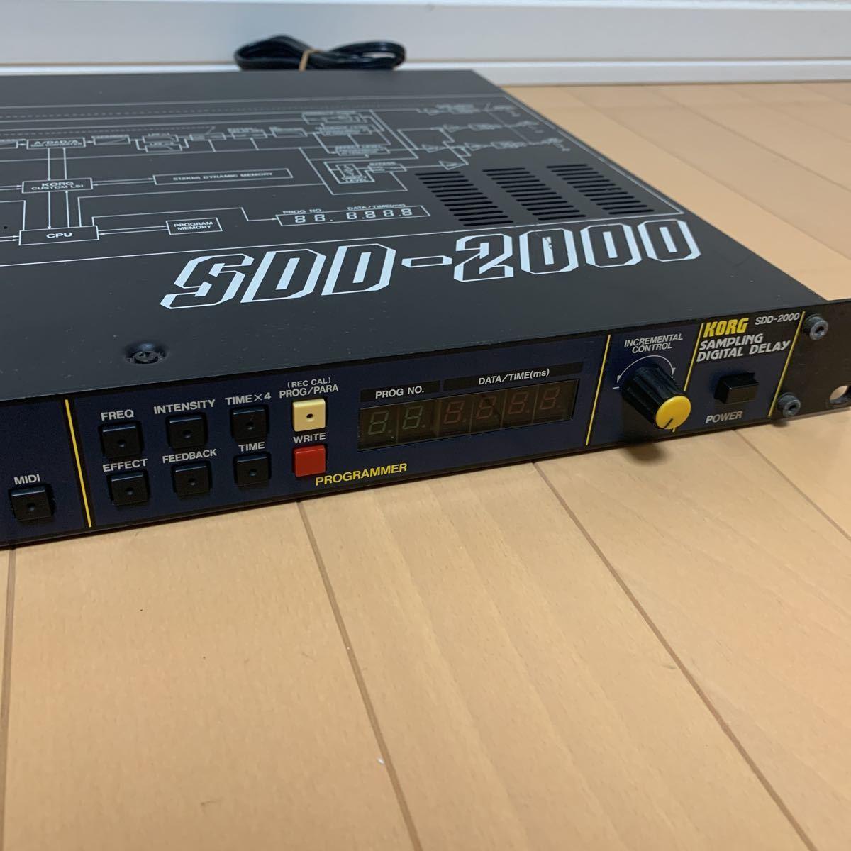 KORG コルグ SDD-2000 デジタルディレイ_画像4