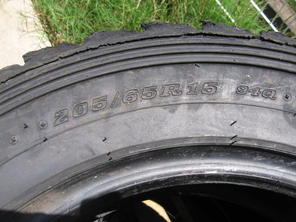 中古タイヤ 205/65R15 '19製 ダンロップDIRREZA 88R DT 4本組_画像6