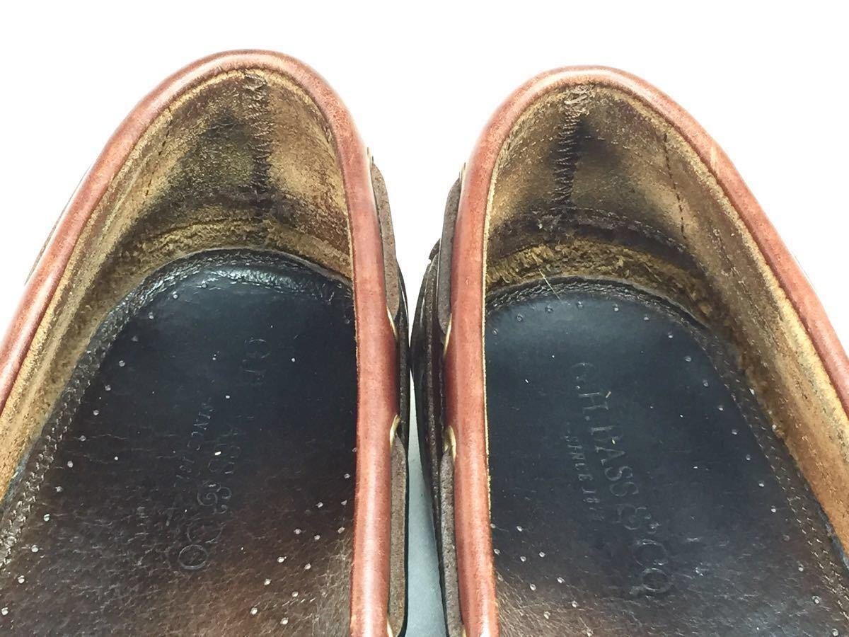 【即決】G.H.BASS G.H.バス 27.0㎝ レザー タッセルローファー メンズ 9M 茶 ブラウン 本革 ビジネスシューズ 本皮 ドレスシューズ 革靴_画像5