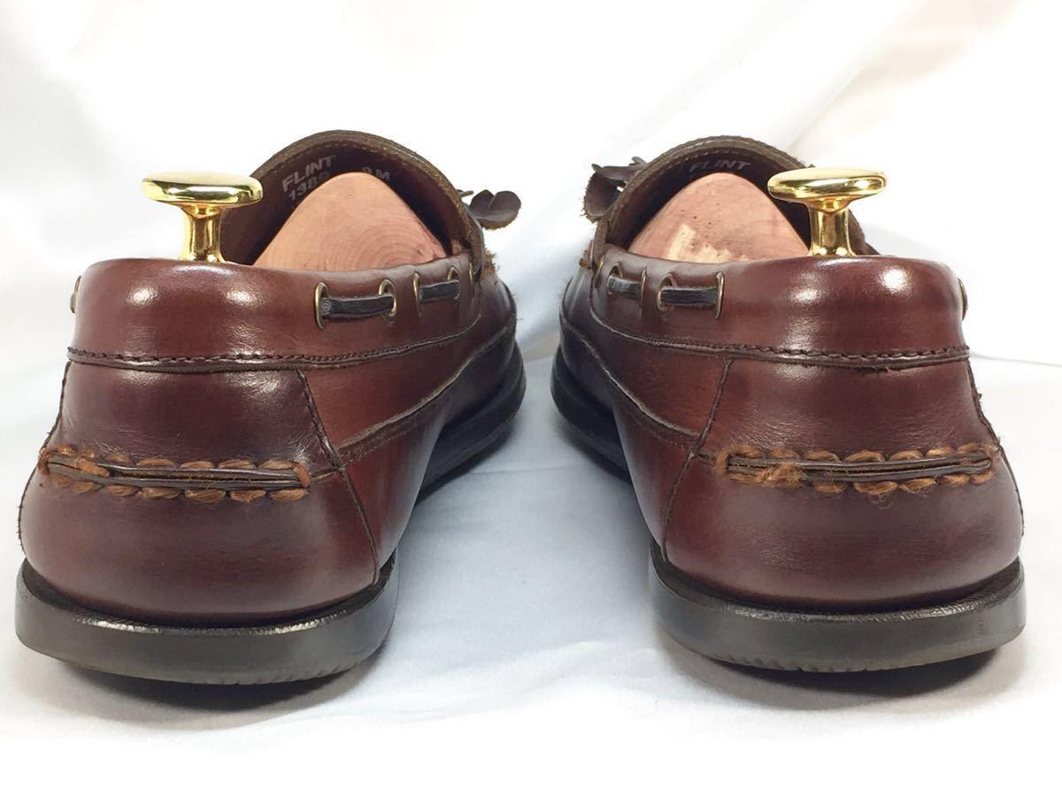 【即決】G.H.BASS G.H.バス 27.0㎝ レザー タッセルローファー メンズ 9M 茶 ブラウン 本革 ビジネスシューズ 本皮 ドレスシューズ 革靴_画像4