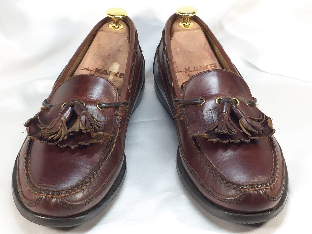 【即決】G.H.BASS G.H.バス 27.0㎝ レザー タッセルローファー メンズ 9M 茶 ブラウン 本革 ビジネスシューズ 本皮 ドレスシューズ 革靴_画像2
