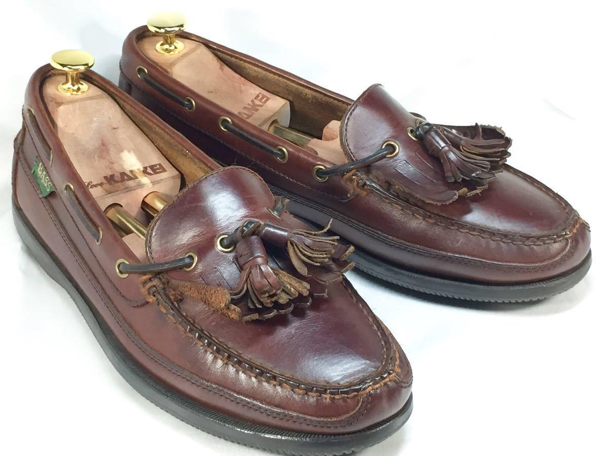【即決】G.H.BASS G.H.バス 27.0㎝ レザー タッセルローファー メンズ 9M 茶 ブラウン 本革 ビジネスシューズ 本皮 ドレスシューズ 革靴_画像1