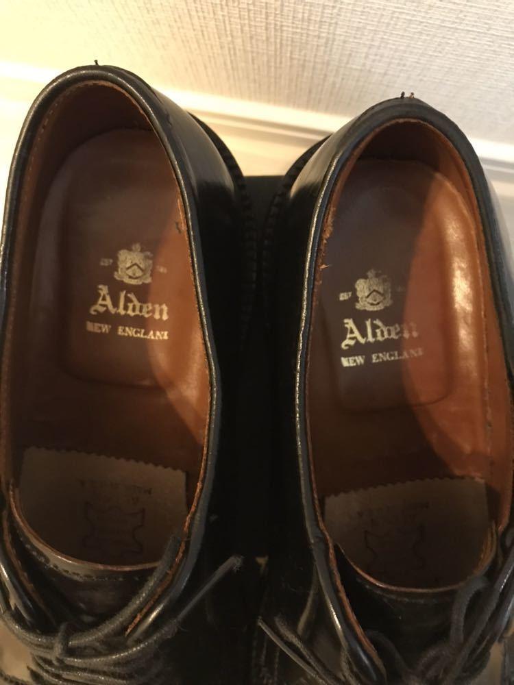 alden オールデン 9901 ブラックコードバン 7D プレーントゥ_画像4