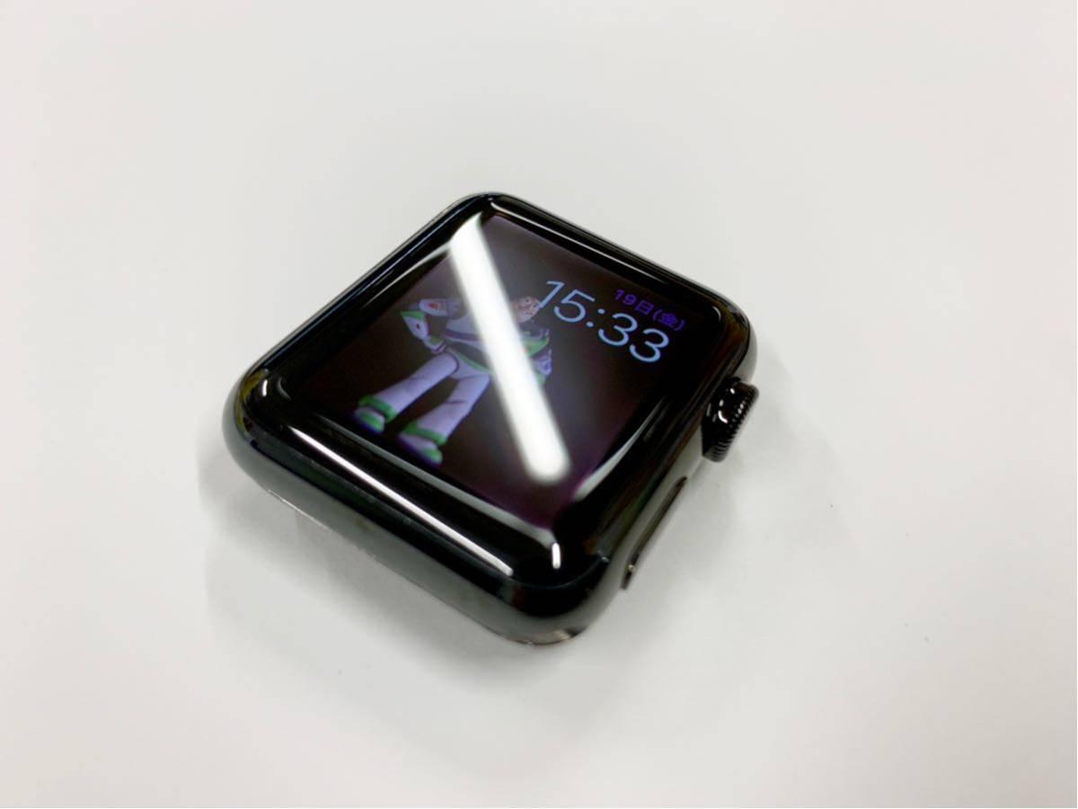 【美品】 Apple watch 38mm 初代 316L スペースブラック ステンレス サファイアクリスタル アップルウォッチ セラミック裏蓋 Applewatch_画像2