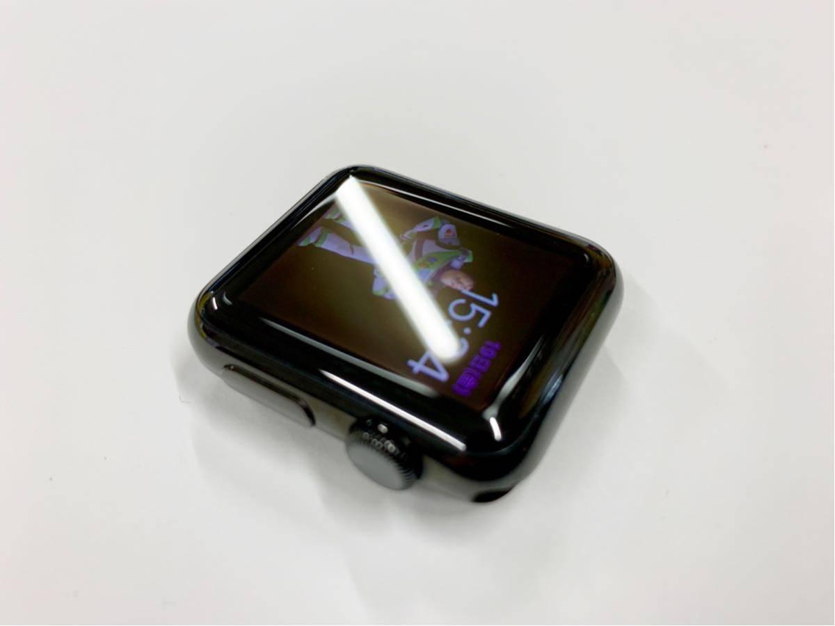 【美品】 Apple watch 38mm 初代 316L スペースブラック ステンレス サファイアクリスタル アップルウォッチ セラミック裏蓋 Applewatch_画像3