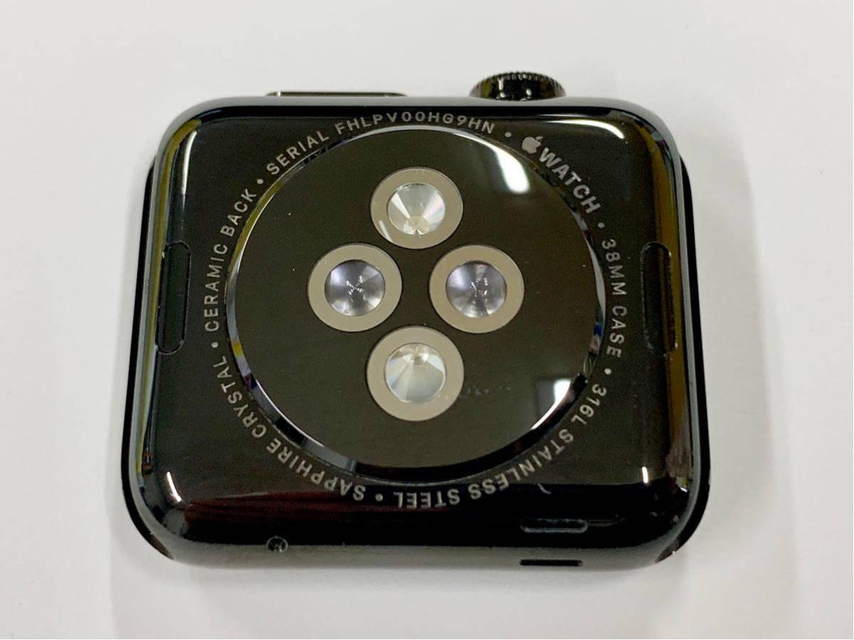 【美品】 Apple watch 38mm 初代 316L スペースブラック ステンレス サファイアクリスタル アップルウォッチ セラミック裏蓋 Applewatch_画像6