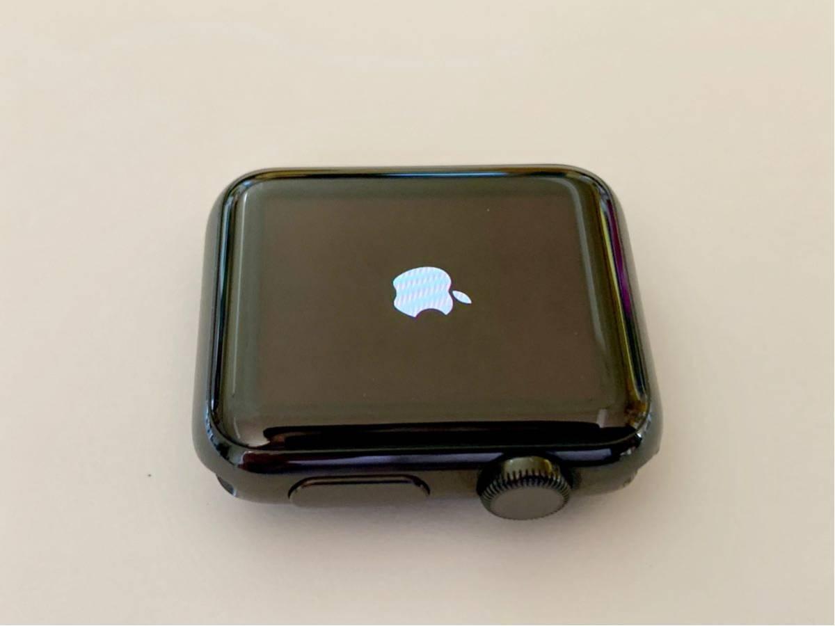 【美品】 Apple watch 38mm 初代 316L スペースブラック ステンレス サファイアクリスタル アップルウォッチ セラミック裏蓋 Applewatch_画像8