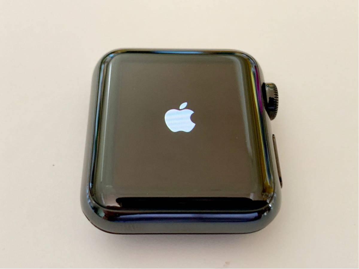 【美品】 Apple watch 38mm 初代 316L スペースブラック ステンレス サファイアクリスタル アップルウォッチ セラミック裏蓋 Applewatch_画像7