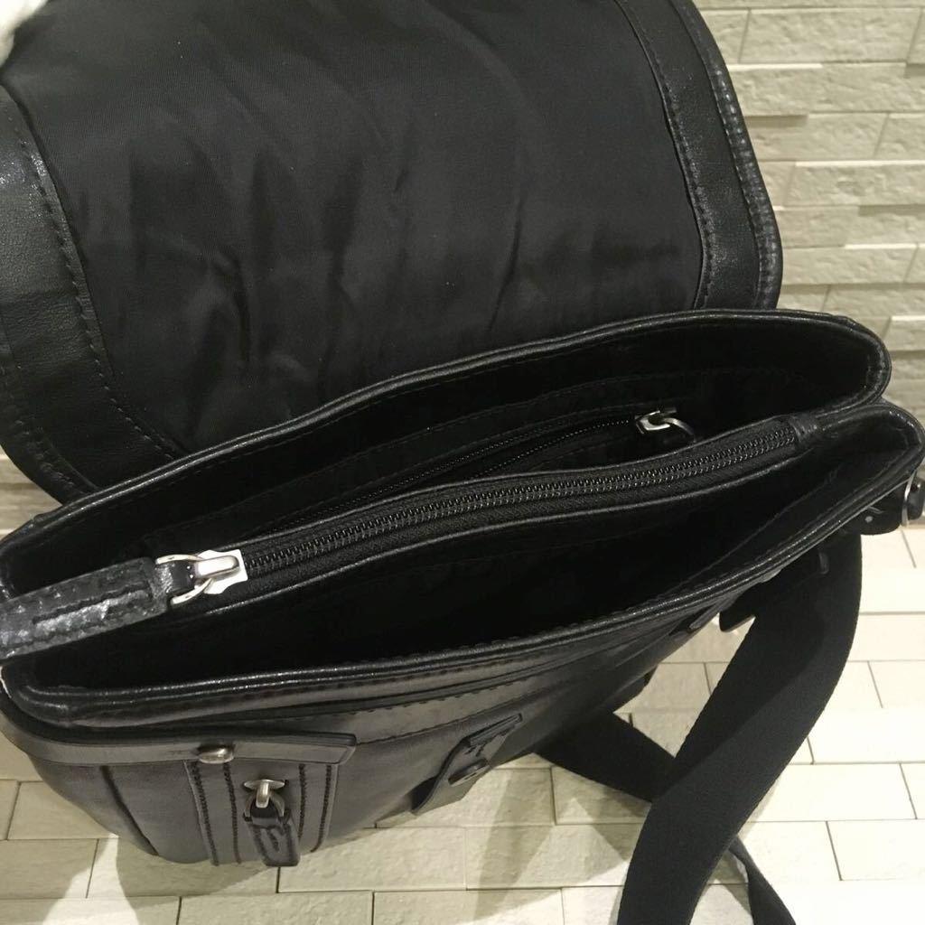 レア☆TUMI ショルダーバッグ ネームタグ付き 68151D レザー _画像6