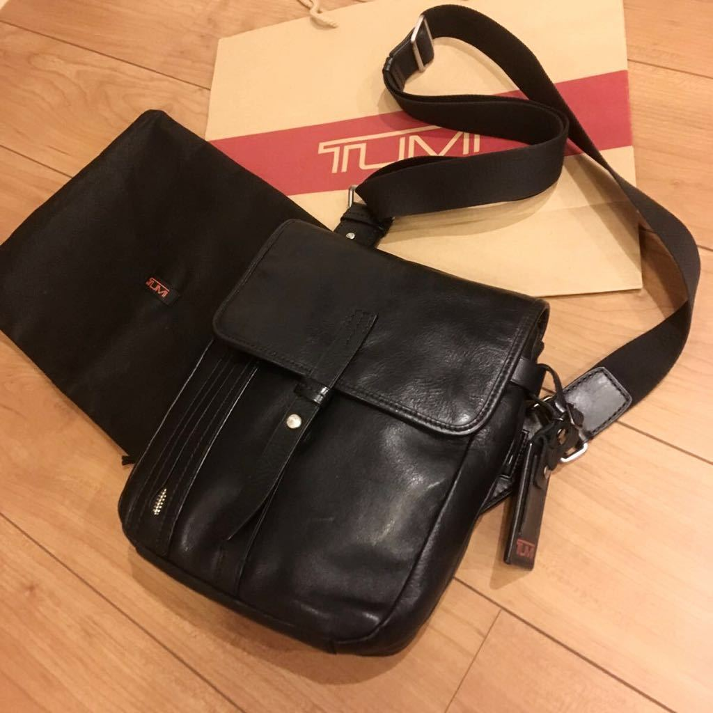 レア☆TUMI ショルダーバッグ ネームタグ付き 68151D レザー