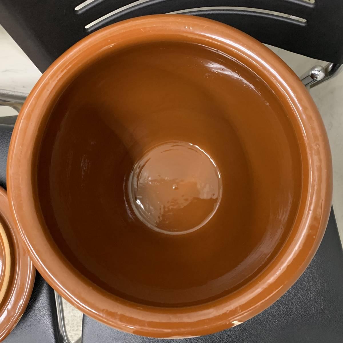 1、常滑焼 久松窯 梅干し壺 漬物容器 かめ 漬物 らっきょ 梅干 味噌 蓋付 経年保管品_画像9