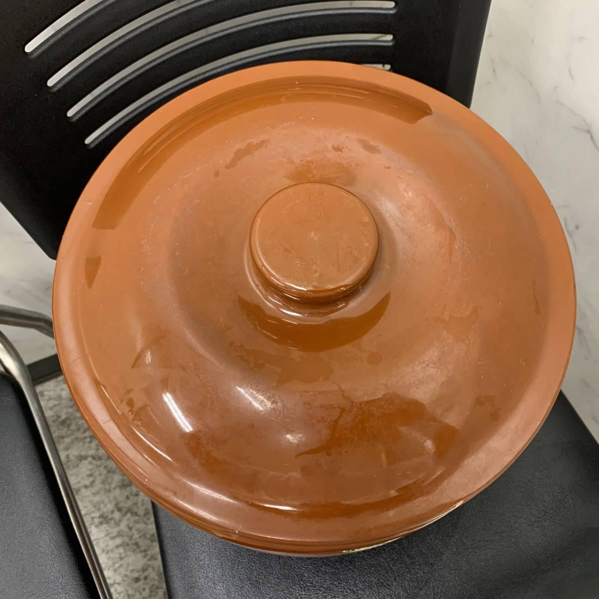 2、常滑焼 久松窯 梅干し壺 漬物容器 かめ 漬物 らっきょ 梅干 味噌 蓋付 経年保管品_画像5
