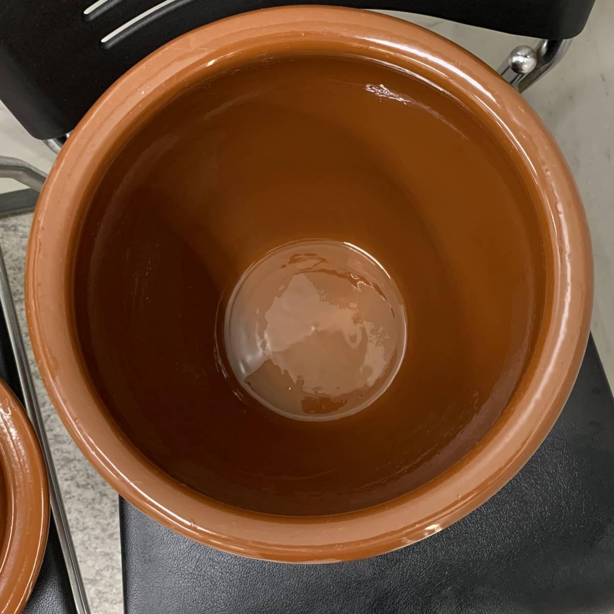 2、常滑焼 久松窯 梅干し壺 漬物容器 かめ 漬物 らっきょ 梅干 味噌 蓋付 経年保管品_画像9