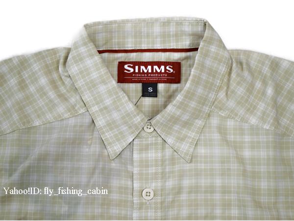 SIMMS シムス モラーダ SS シャツ ペール カーキ プレイド US-S_画像8