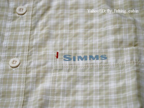 SIMMS シムス モラーダ SS シャツ ペール カーキ プレイド US-S_画像6
