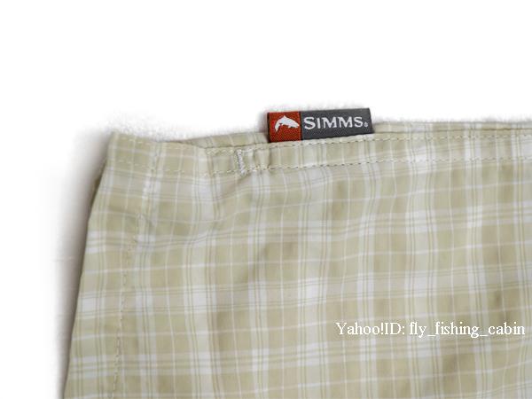 SIMMS シムス モラーダ SS シャツ ペール カーキ プレイド US-S_画像5