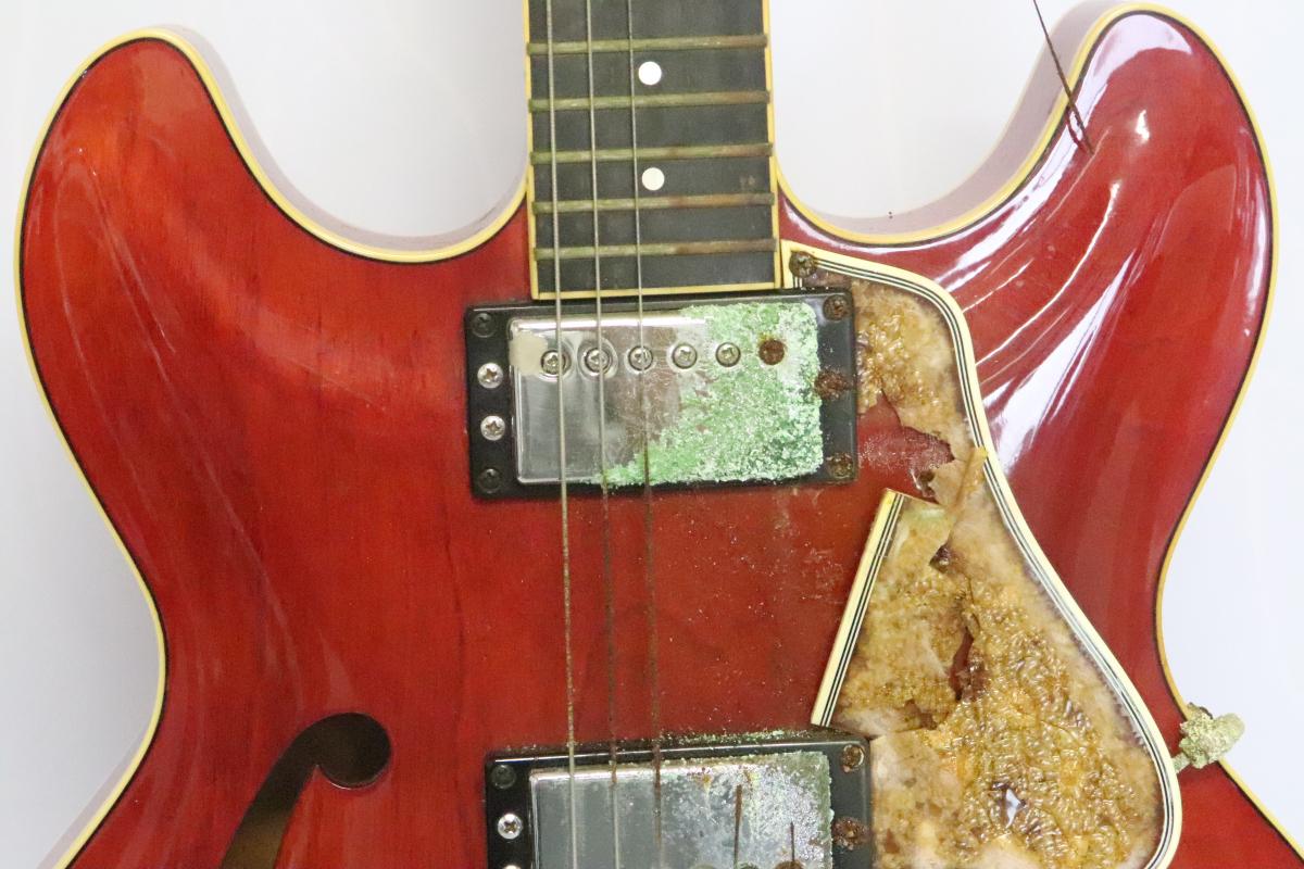 91FBA【弦楽器】YAMAHA ヤマハ SA1000 Super Axe ギター ジャパンビンテージ 音OK _画像2