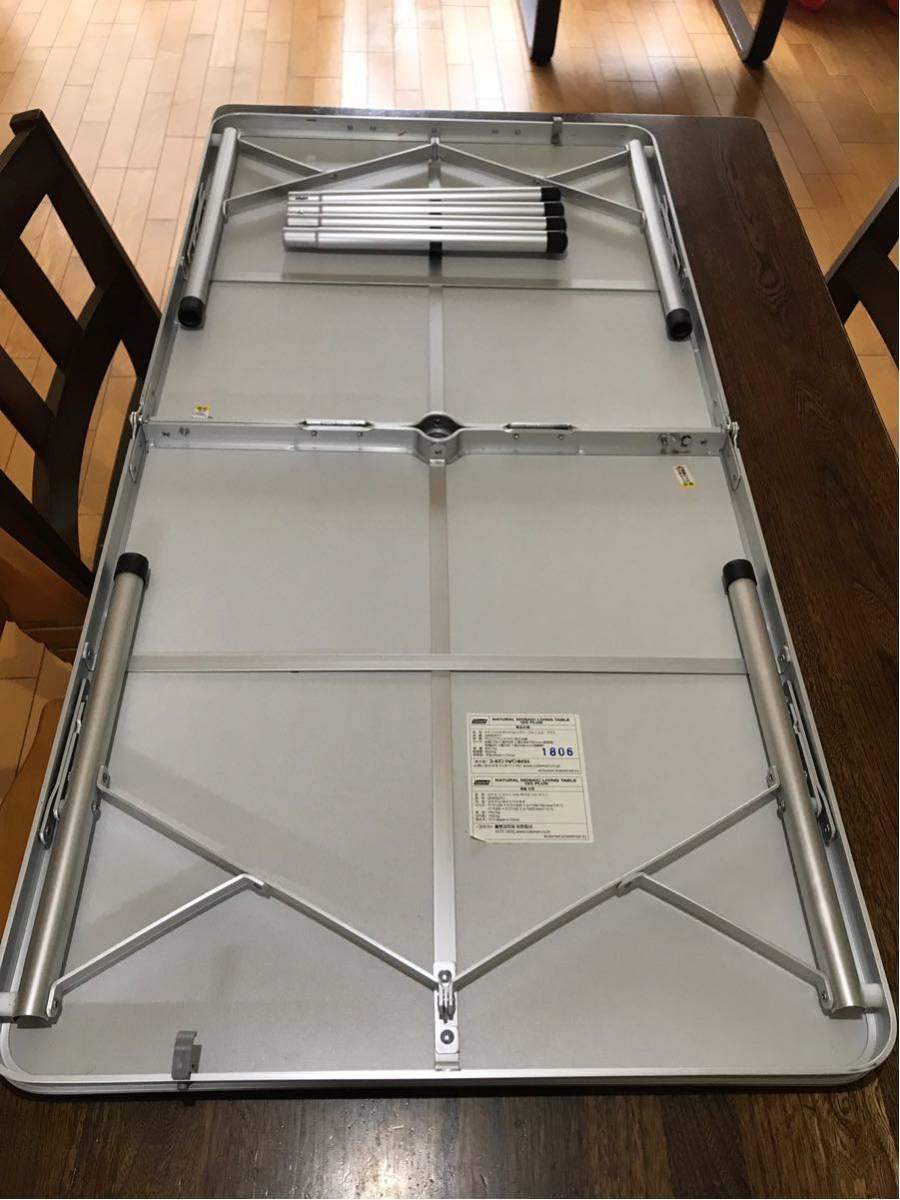 ★コールマン ナチュラル モザイク リビングテーブル 120プラスColeman使用1回のみアウトドア テーブル_画像4