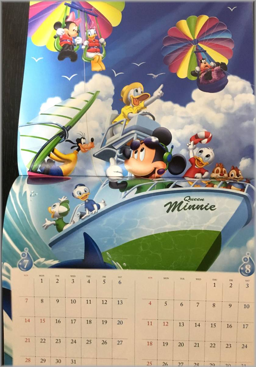 【送料無料】非売品 ディズニー ミッキー カレンダー2019とPoinco卓上カレンダー★ドコモ dポイントクラブ _画像3