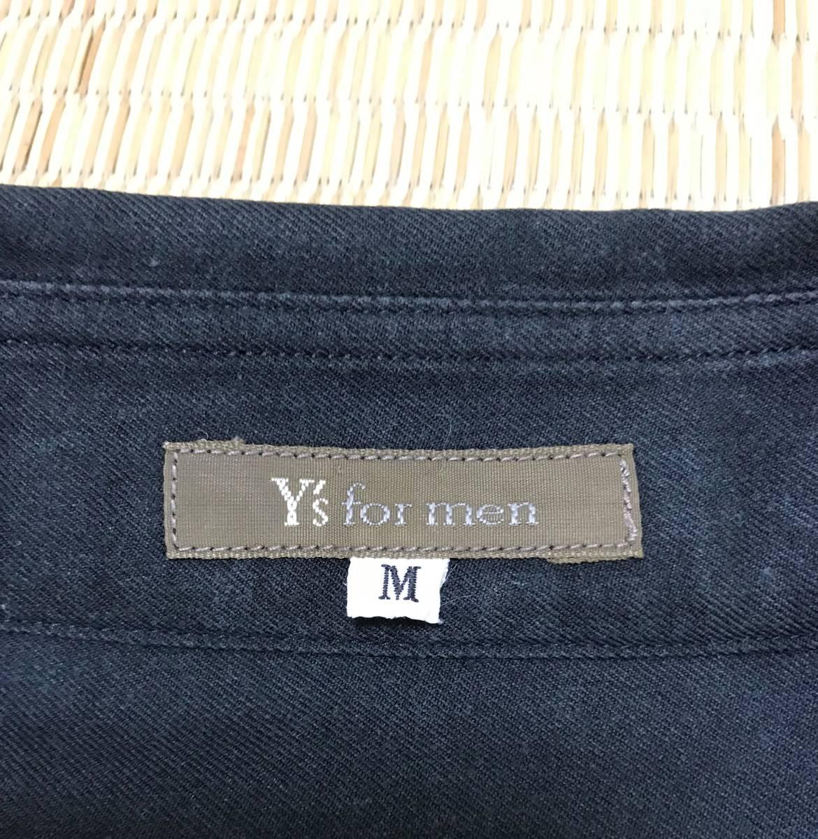 Y's for men ヨウジヤマモト 定番 ビックシルエット スクエア半袖シャツ 黒_画像4