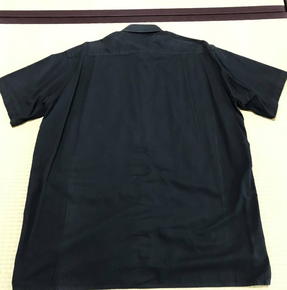 Y's for men ヨウジヤマモト 定番 ビックシルエット スクエア半袖シャツ 黒_画像2