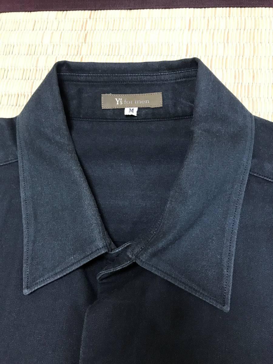 Y's for men ヨウジヤマモト 定番 ビックシルエット スクエア半袖シャツ 黒_画像3