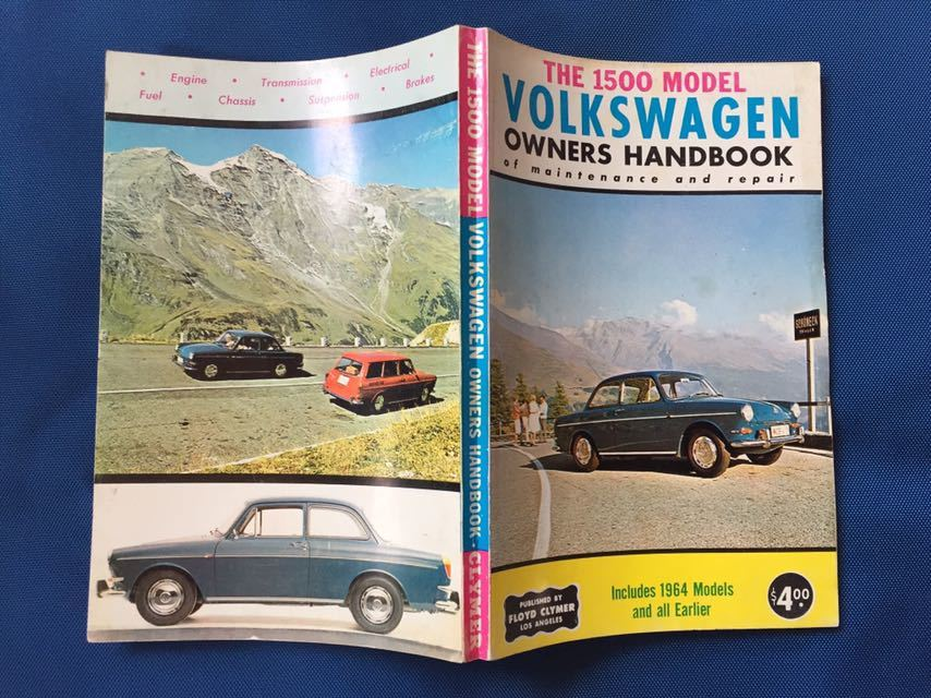 air cooling VW type 3 Type-3 service book owner's manual