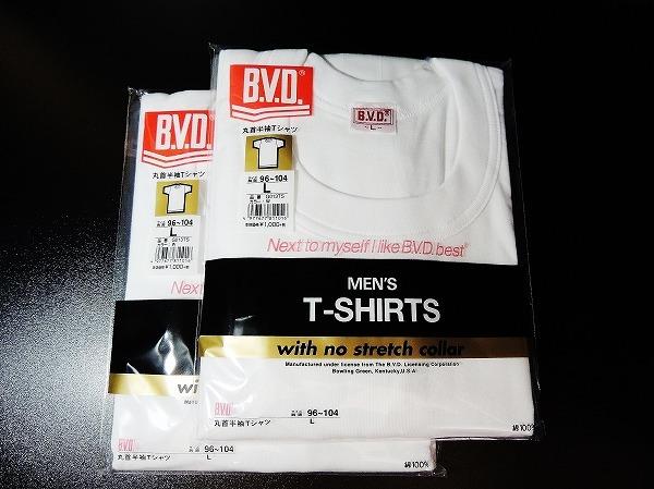 送料200円■新品 BVD 丸首半袖Tシャツ L 2枚 ■