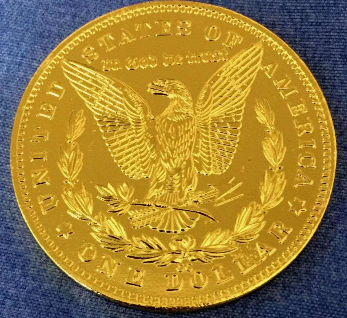 古銭貨幣 極上品 アメリカ ハワイ金貨 稀少 1881年銘 38mm 20.8g_画像2