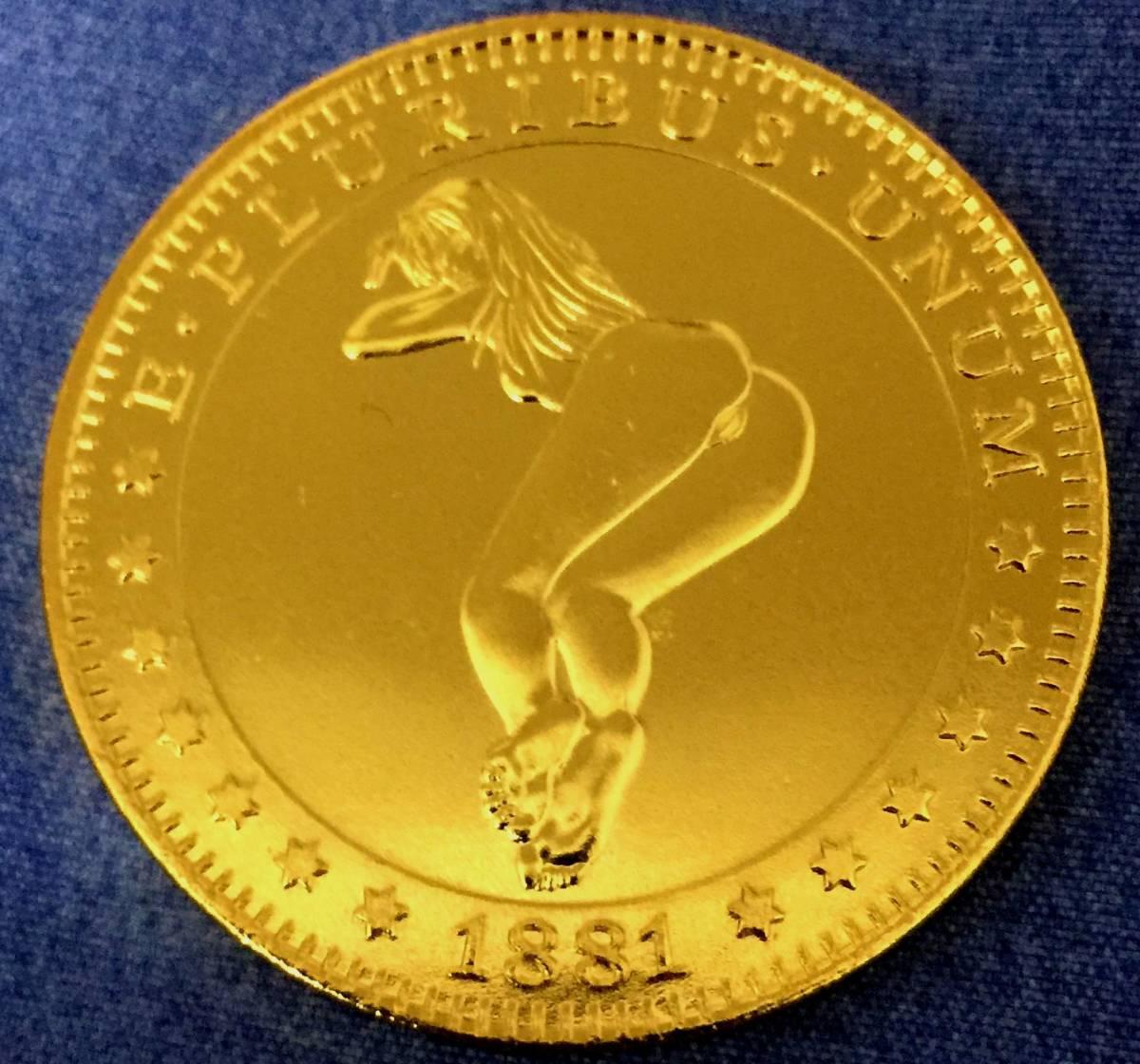古銭貨幣 極上品 アメリカ ハワイ金貨 稀少 1881年銘 38mm 20.8g
