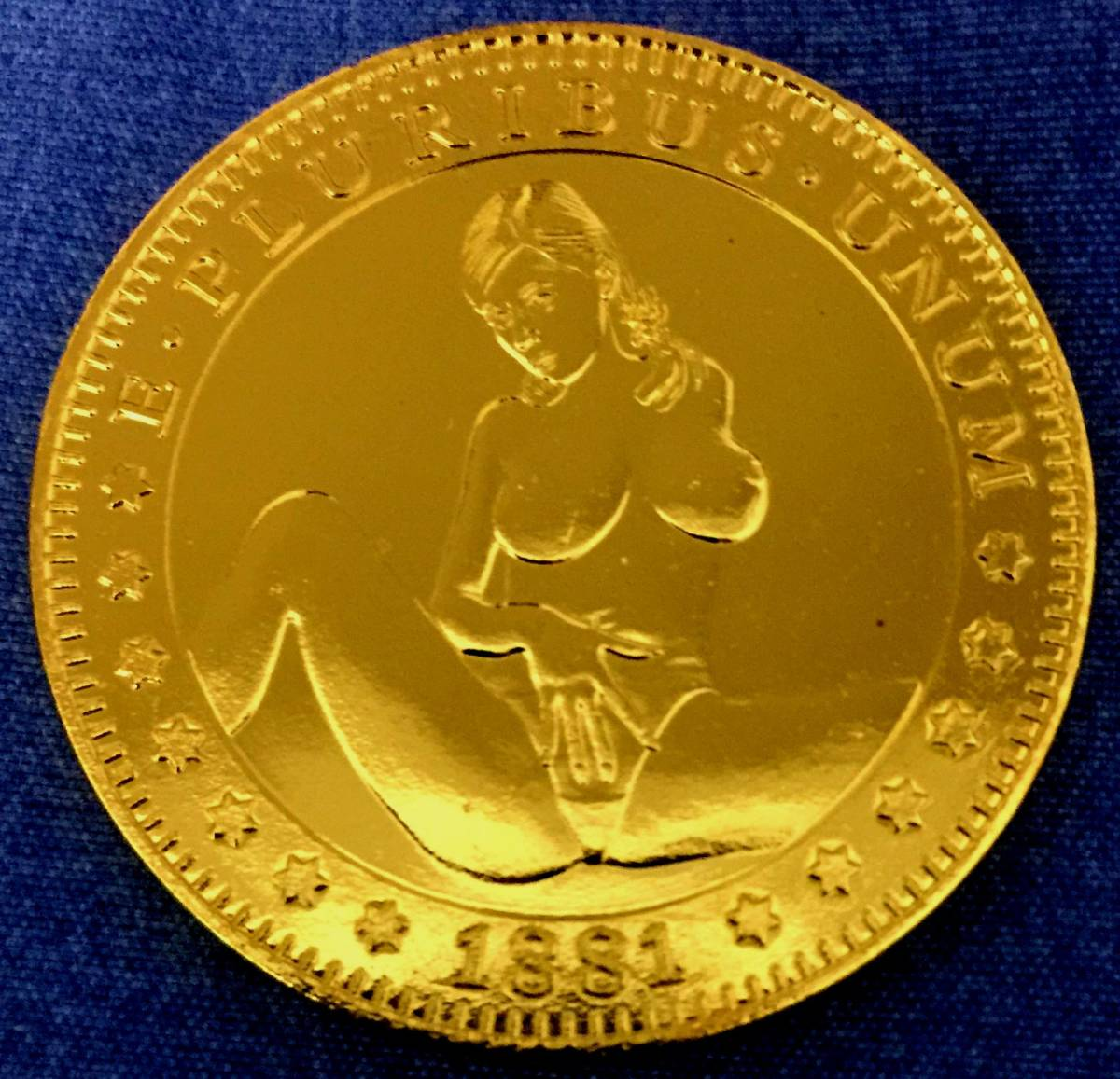 古銭貨幣貴重 希少珍品 極上品 アメリカ 古銭 金貨 稀少 1881年銘 38mm 20.9g