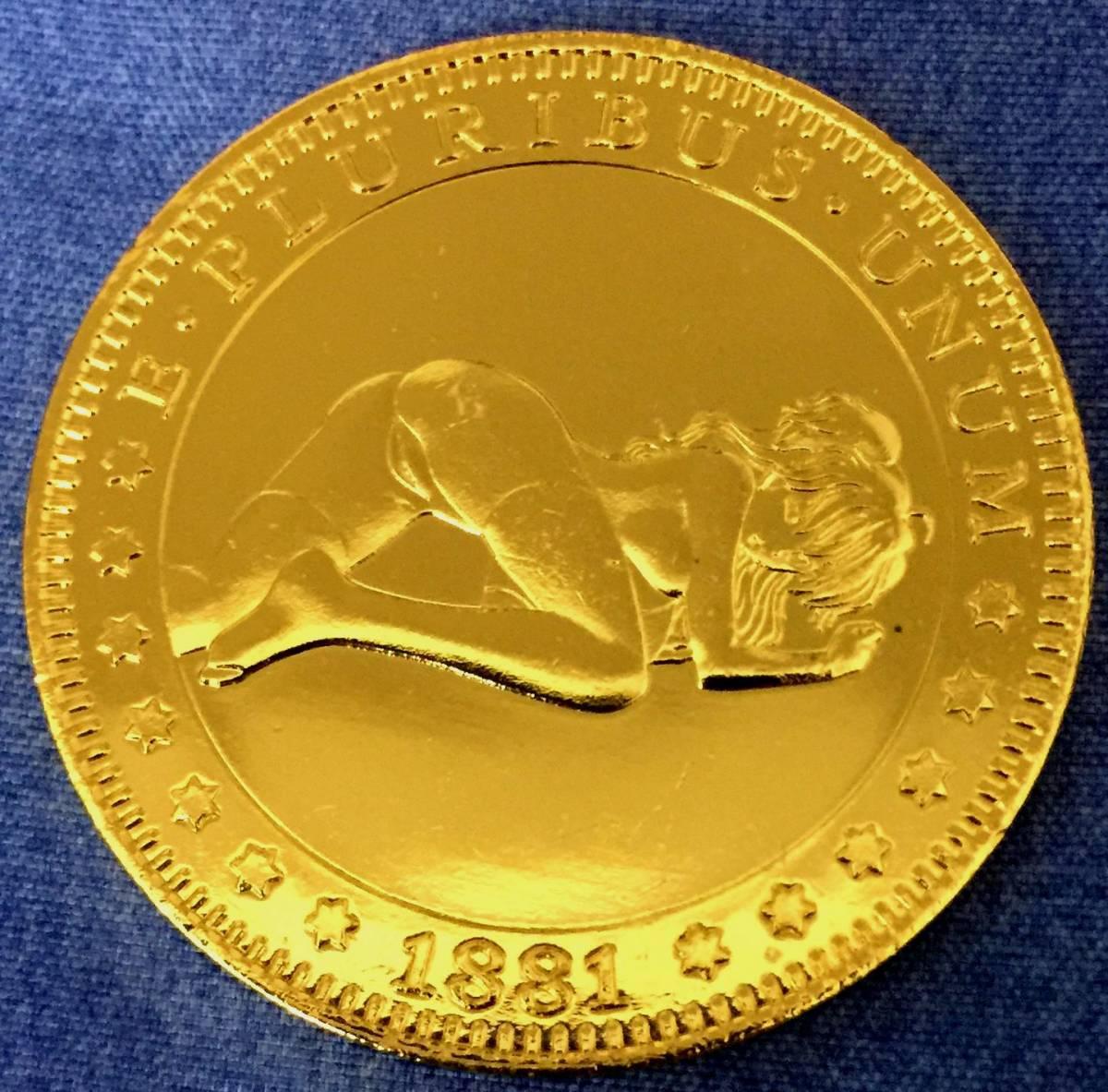 古銭貨幣 希少珍品 極上品 アメリカ 流浪者の 金貨 西部のカウボーイ 女 1881年 稀少 21.8g
