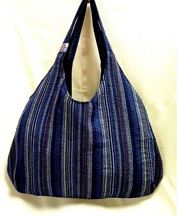 お針箱 e78ちょこっとバッグ 古布 浴衣 期間限定 リバーシブル ハンドメイド サイドバッグ