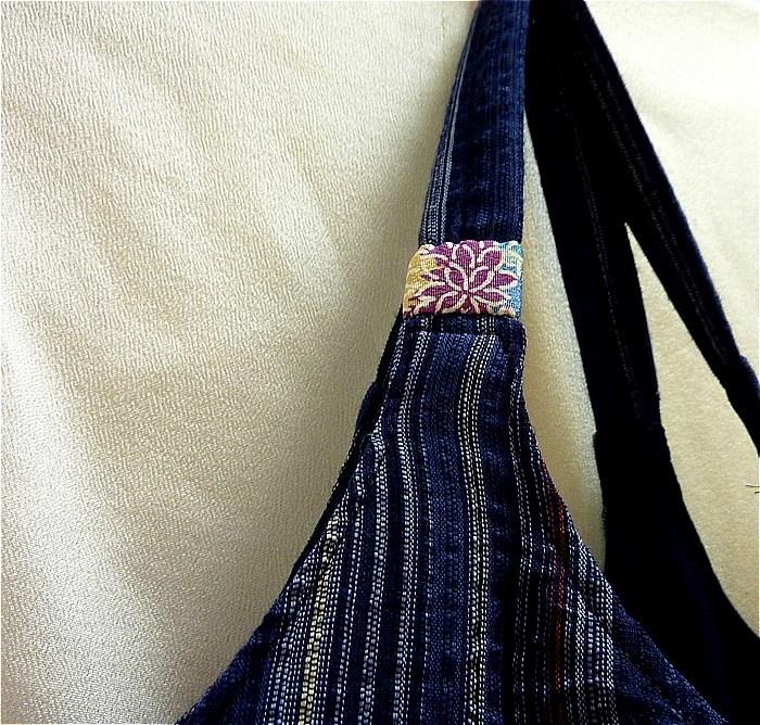 お針箱 e78ちょこっとバッグ 古布 浴衣 期間限定 リバーシブル ハンドメイド サイドバッグ_画像4