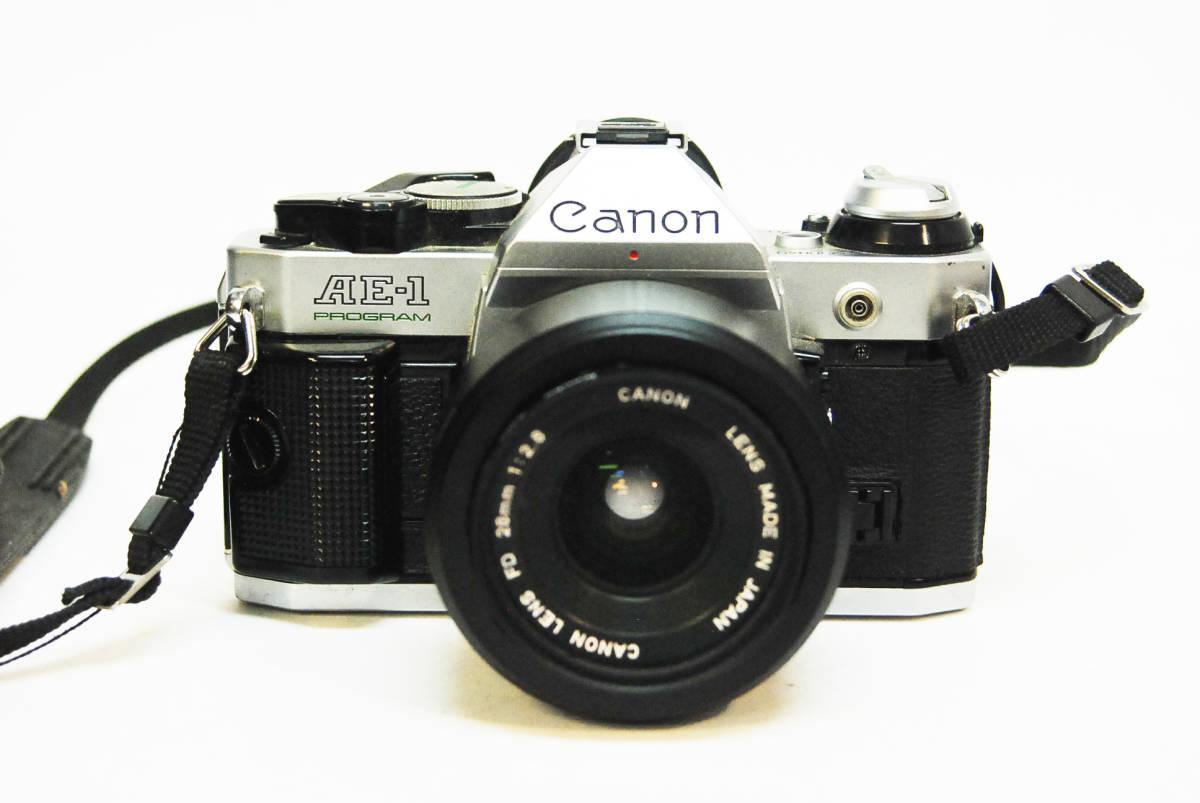 ◆◇キャノン ボディ レンズ Canon AE-1 PROGRAM  LENS FD 28mm 1:2.8 データバッグ付き ◇◆