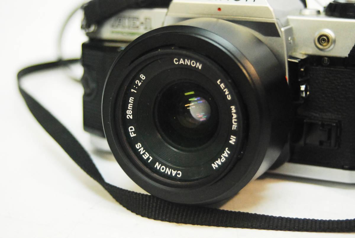 ◆◇キャノン ボディ レンズ Canon AE-1 PROGRAM  LENS FD 28mm 1:2.8 データバッグ付き ◇◆_画像6