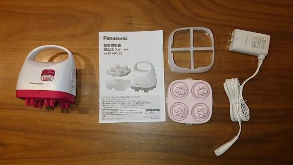 美品 Panasonic パナソニック【EH-HE99】頭皮エステ(サロンタッチタイプ) ルージュピンク調_画像2