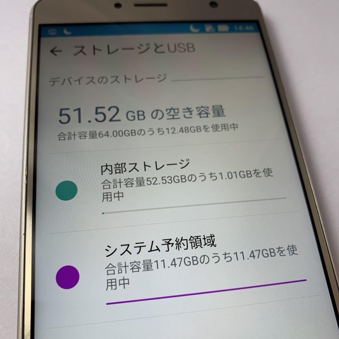 ASUS Zenfone 3 Deluxe 5.5 ZS550KL 64GB SIMフリー 本体 Z01FD ゴールド 海外版_画像9